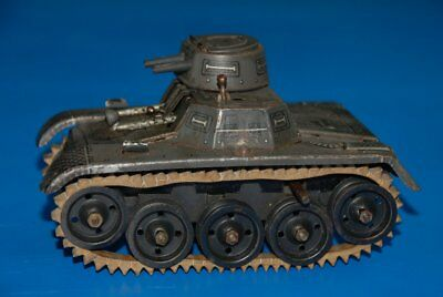 GAMA Tank mit Uhrwerk * Blech litho. * Made in US Zone (36)
