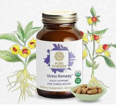 * Pure Synergy Organic Stress Remedy and Relief, 60 capsules