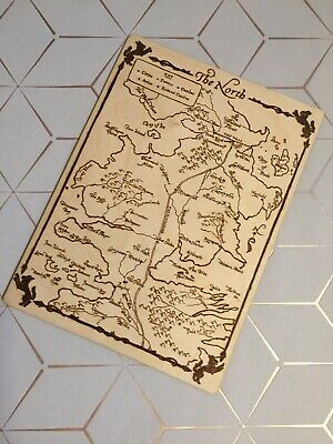A Game Of Thrones Map of The North Winterfell Wooden Art Work Home Decor Rustic