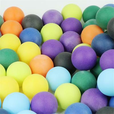 100Pcs/set Colored Ping Pong Balls Entertainment Table Tennis Ball MultiColor UK