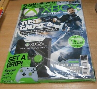 Official XBOX magazine UK XMAS 2018 Just Cause 4 + Calendar 2019 & Thumb Grips