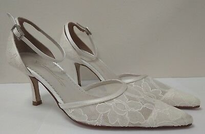 Gabriella & Lucido Ivory Silk Satin Ladies Shoes Ref. 123