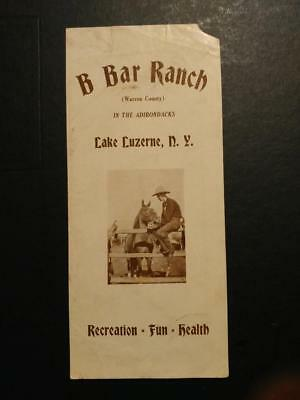 0541----c.1939 B Bar Ranch brochure -- Lake Luzerne NY