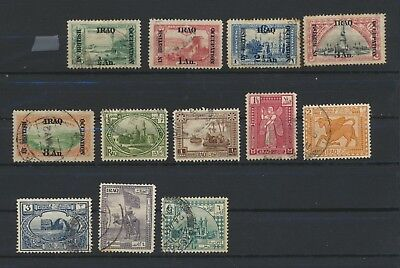 IRAQ british occupation  12 used stamps