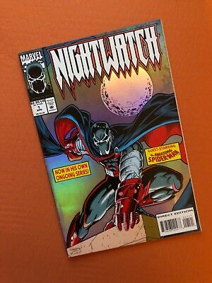 NIGHTWATCH #1 Marvel Comics Holofoil Cover First Print Spiderman 1994