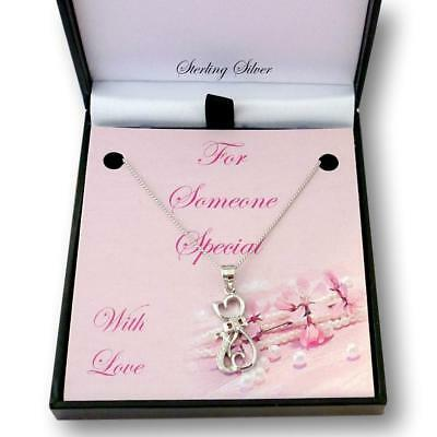 High Quality 925 Silver Cat Necklace Gift for Someone Special, Women or Girls