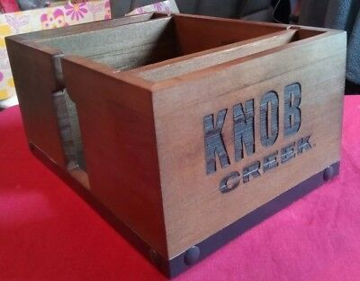 Knob Creek Bourbon *NEW* Napkin Caddy Bar Tidy Barware Straw Swizzle Holder