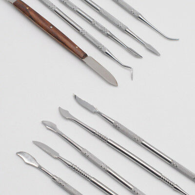 Stainless Steel Wax Carvers Carving Tool 1Set For Dentist Lab Equipment