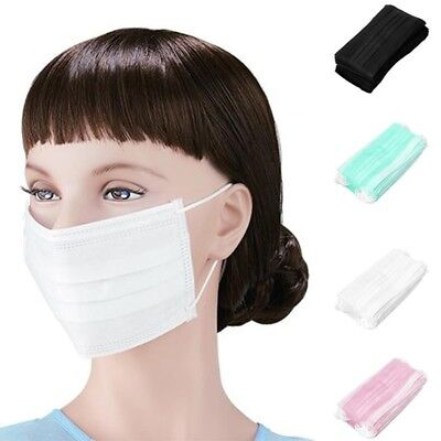 50 pcs Disposable Earloop Face Mouth Masks 3 Layers Anti-Dust