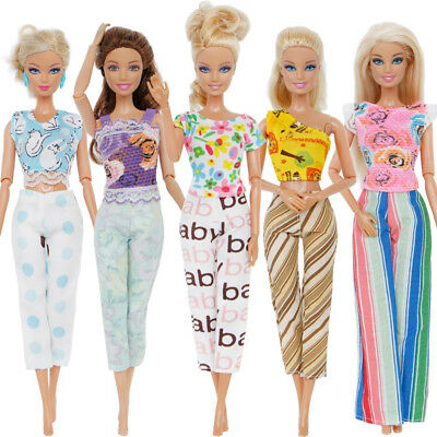 Barbie Doll Clothes Outfit Beauty Handmade Fashion Dress Child Gift 5PCS Hot