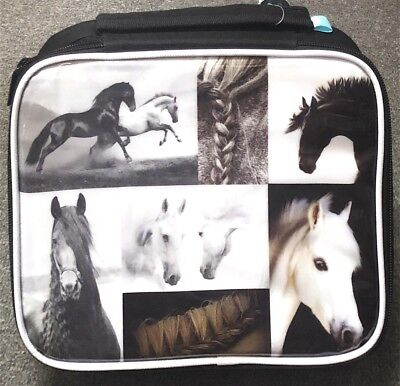 Cooler Lunch Bag With Handle Name Label School Office Picnic Horse Love