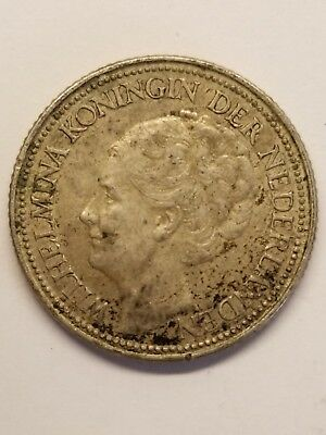 Curacao, Netherlands, 1941-P, 25 Cents, Silver 0.64
