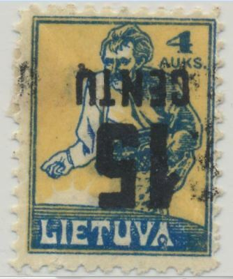 Lithuania Sc. 153a Sower 1922 Inverted Surcharge