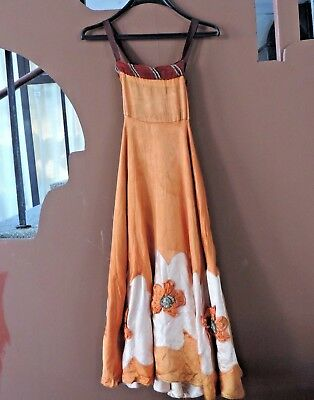 RRR RARE Antique Vintage  Woman's Round Circle Perfomance Embroidered Dress