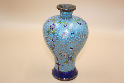 Antique Chinese Bronze Cloisonne Small Vase