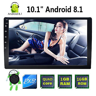 """Android 8.1 10.1"""" Double 2Din Car Radio Stereo GPS Navigation Bluetooth WiFi 4G"""