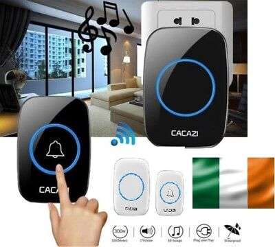 Wireless Door Cordless Wireless Bell Mains Plug In Portable 300M LED Chime