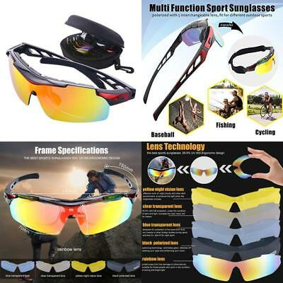 e31c682a20 Polarized Sports Sunglasses For Men Women Bike Glasses With Strap  Interchangeabl