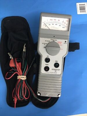 TEMPO SIDEKICK 7B Cable Tester Vots And OHMS working Condition