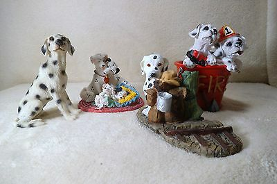 dog dalmatian figurine collection