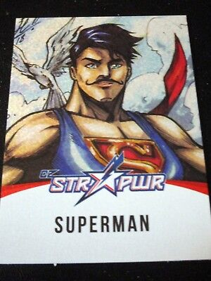 DC Cryptozoic Bombshells 2 II Superman STR PWR ST04 Red Chase Card