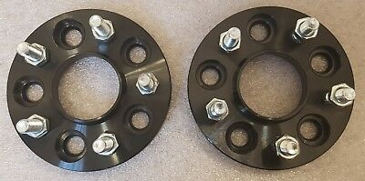 BLACK Ford Focus Mk3 inc ST RS 5x108 15mm Hubcentric Wheel Spacers 1 Pair ALLOY