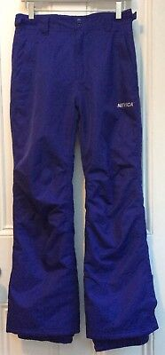 No Fear (Nevica) Girls Purple Ski / Snowbarding Trousers Sz 12-13 Yrs WORN ONCE