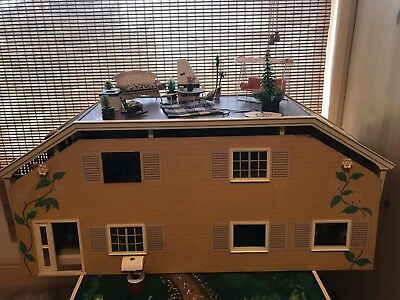 Vintage Lundby Dollhouse Mid Century Complete As Shown 375 00