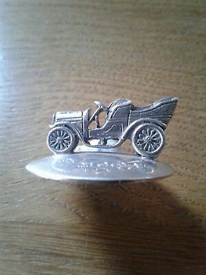 Very Rare Antique Solid Silver Vintage Car Menu Holder Sheffield 1907