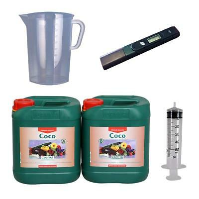 Nutrient Starter Kit Canna Coco A&B 5Ltr Kit With PH Pen 50 ml Syringe Jug