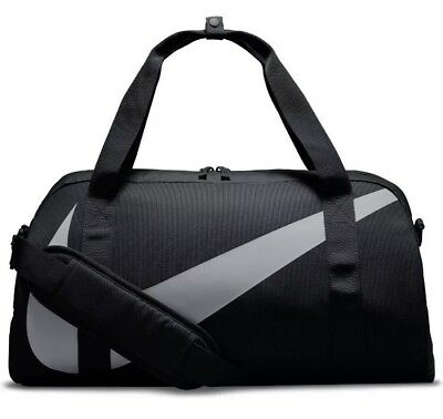 Nike Club Sports Bag Gym Bag Fitness Holdall Duffle Black Grey Yoga Pilates