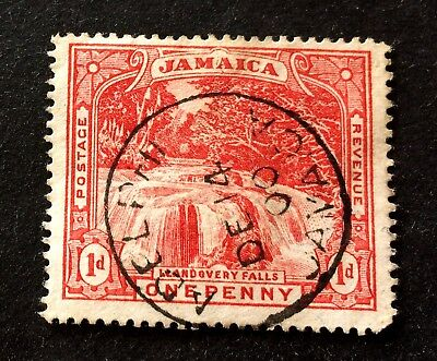 Jamaica 1900 - one Penny red with top postmark