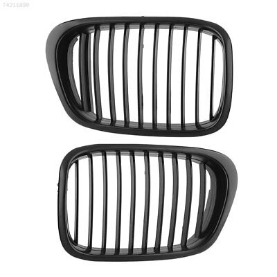 6F8F 1Pair Center Black Wide Kidney Grille Grill For BMW E39 528 530 1997-2003