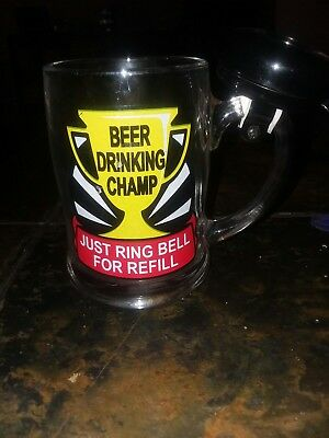 Beer Champ Ring Bell For Refill - Glass Mug with bike bell -