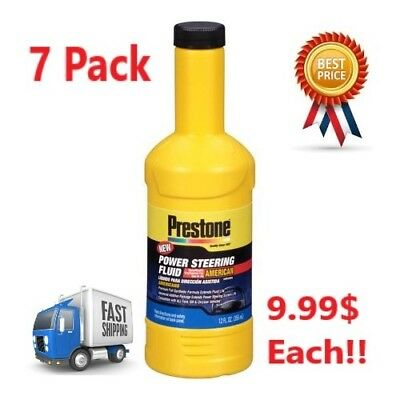 Prestone Synthetic Power Steering Fluid Formulated for American Vehicles 7 Pack