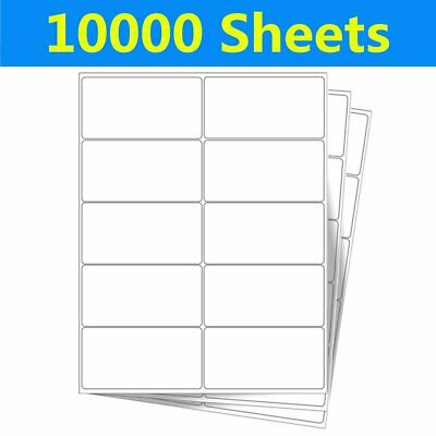 "100000 Blank Shipping Address SKU Labels 2"" X 4"" Adhesive 10000 Sheet USPS FedEx"
