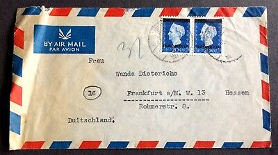 """old used envelope with 2 stamps 1948 - Dutch India overprinted """"Indonesia"""""""
