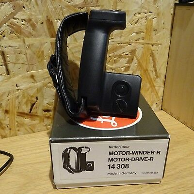 Leica Grip  with leather strap 14308 for the R Motor  - boxed