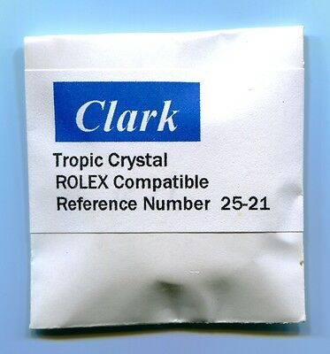 """Crystal Ref. # 25-21 Tropic 21 For Rolex  """"CLARK"""" crystals"""