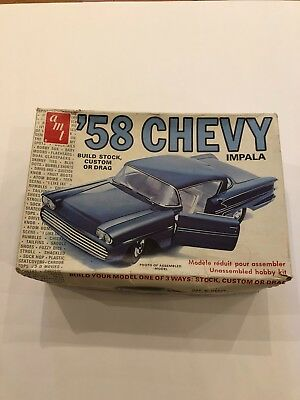 Vintage AMT 1/25 58 Chevy Customizer model kit sealed