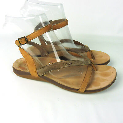 CHACO Buckle BROWN LEATHER Ankle Buckle CHACO Strap Fisherman Sandales Men's Größe 12de57
