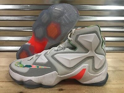 aafcfe83c24 Nike Lebron XIII 13 Easter Shoes White Bright Mango Action Green SZ  (807219-108