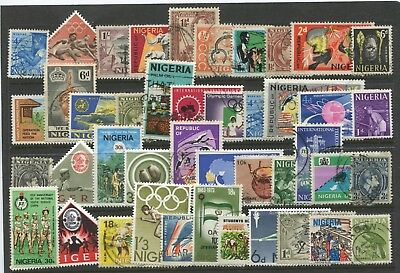 "NIGERIA  -  40  Stamps  ""  ALL  DIFFERENT  "" ."