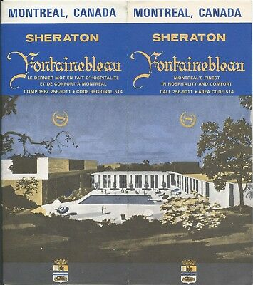 Sheraton Fontainebleau Hotel MONTREAL Canada - vintage travel brochure