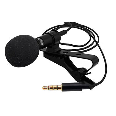 Clip On Microphone Pocket Mic Collar Tie Lavalier For Camera Laptop Smartphone
