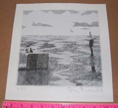 Stanley Donwood Fox and Hare signed 81/88 COA art print poster Radiohead artist