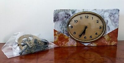 Art Deco Marble Mantle Clock (In Parts for Spares or Repair)