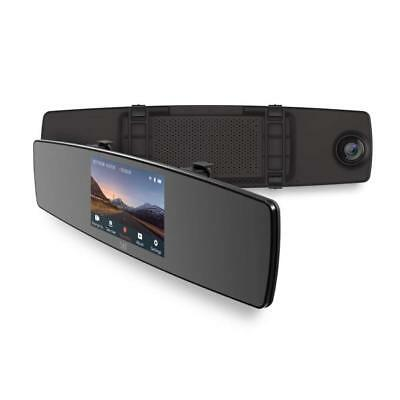 YI Mirror Dash Cam, Dual Dashboard Camera Recorder with Touch Screen, Front Rear