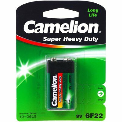 Battery Camelion Super Heavy Duty 6F22 9-V-Block (5 x 1 pack) 9V  Alkaline