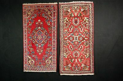 Antiker Teppich Antique rug  2x sarough ca: 130cm x62cm ,125cmx62cm   rug tapis